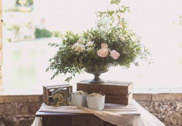 Confetti Petal Table Bagno Vignoni Tuscany Destination wedding