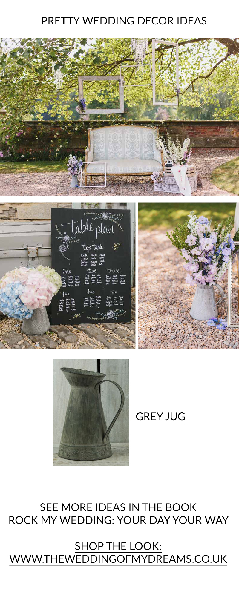 PRETTY WEDDING DECOR IDEAS from Rock My Wedding Book