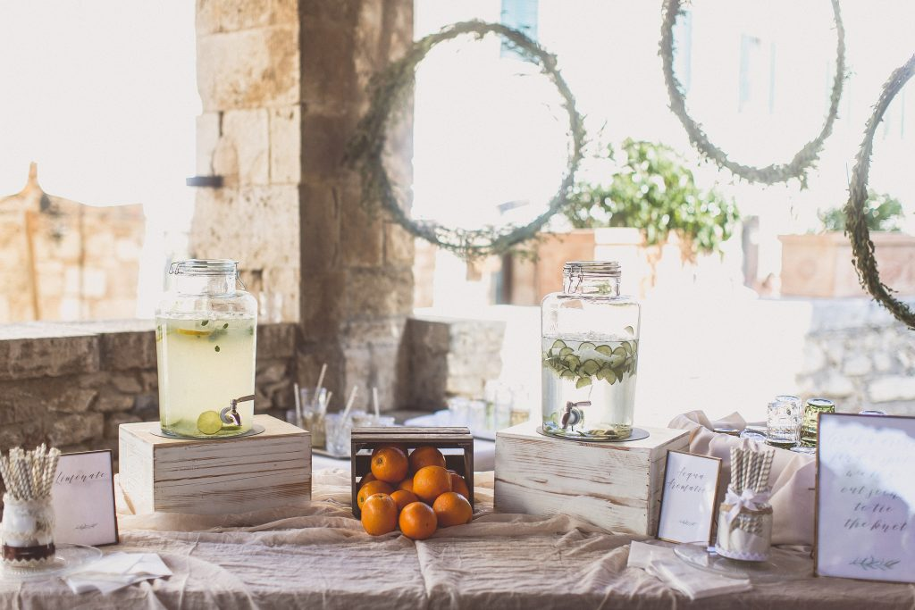 Pre Ceremony drinks station Ideas