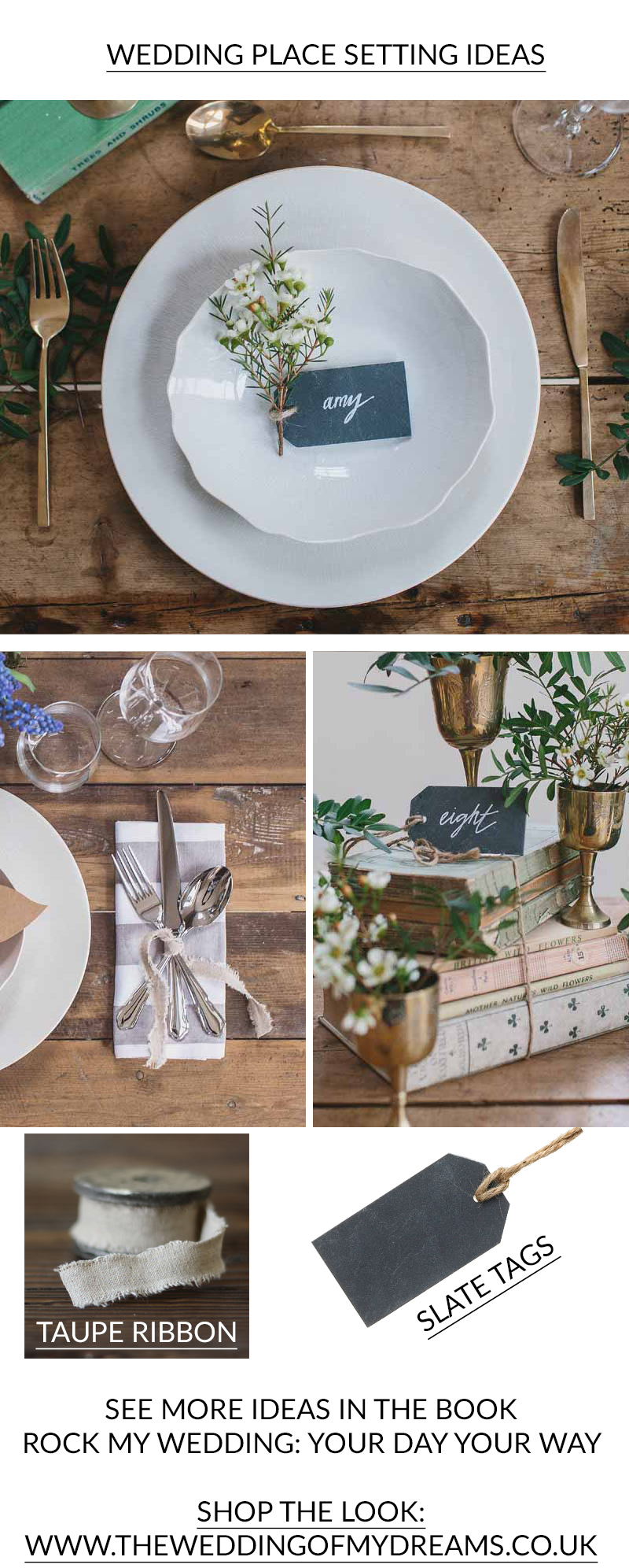 WEDDING PLACE SETTING IDEAS from Rock My Wedding Book