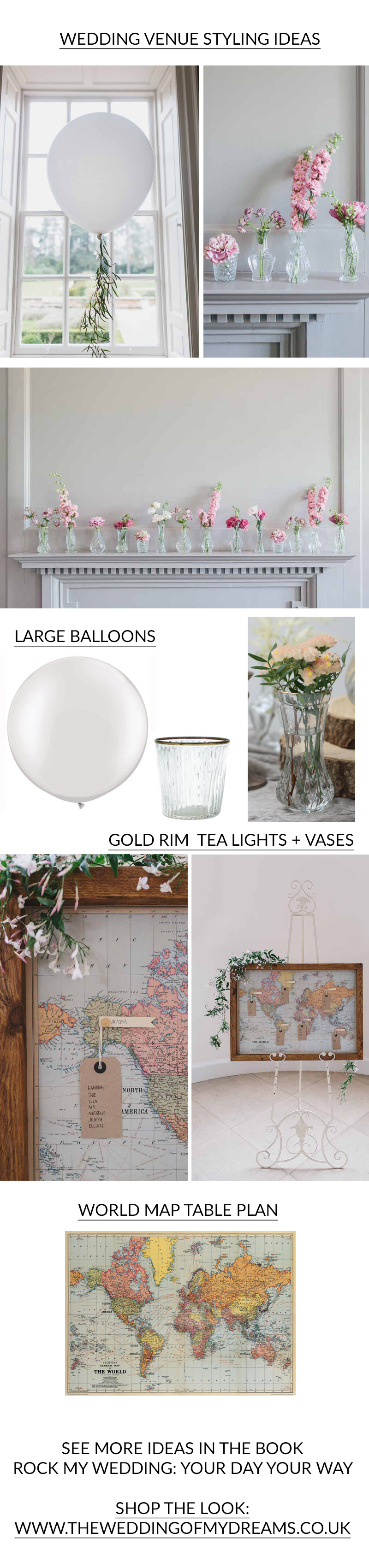 WEDDING VENUE STYLING IDEAS from Rock My Wedding Book