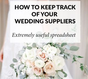 how to keep track of your wedding suppliers spreadsheet