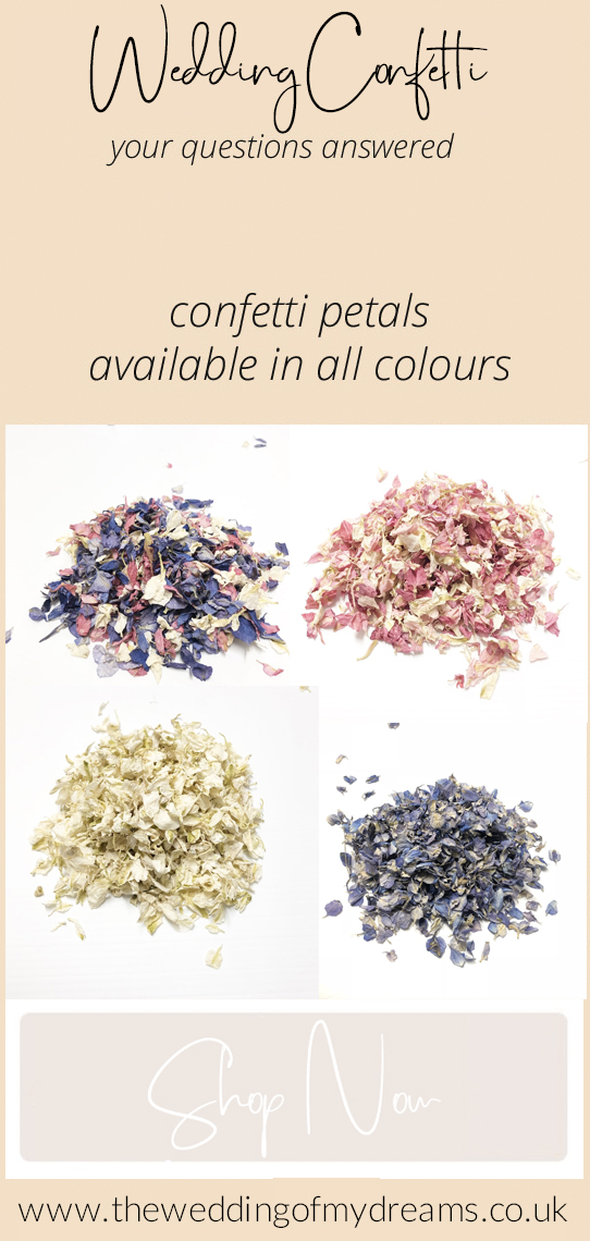 natural confetti petal colours