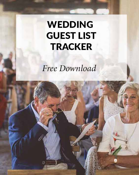 wedding guest list tracker free download