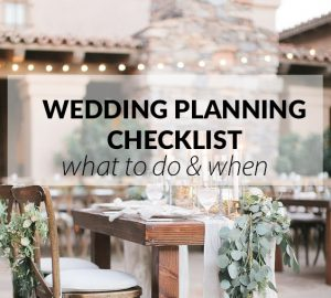 wedding planning checklist what to do when sq