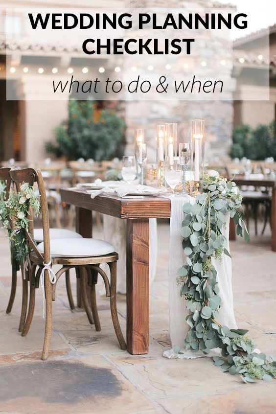 wedding planning checklist what to do when