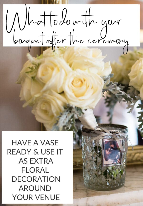 what to do with your bouquet after the ceremony