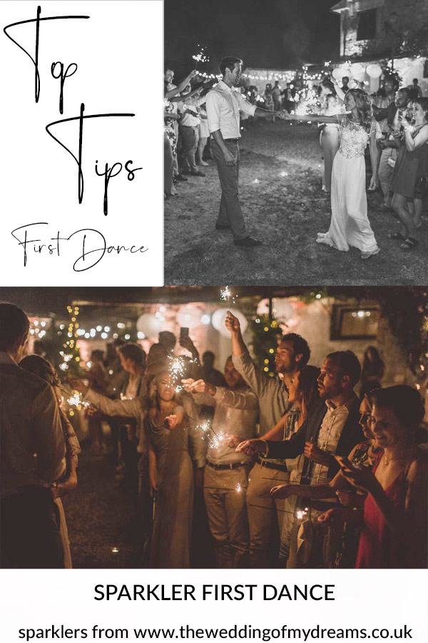 First dance ideas sparklers