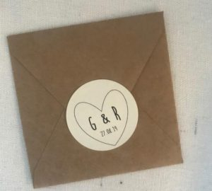 wedding favour stickers