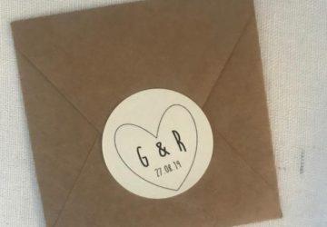 wedding favour stickers