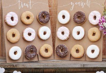 donut wall wedding table top display
