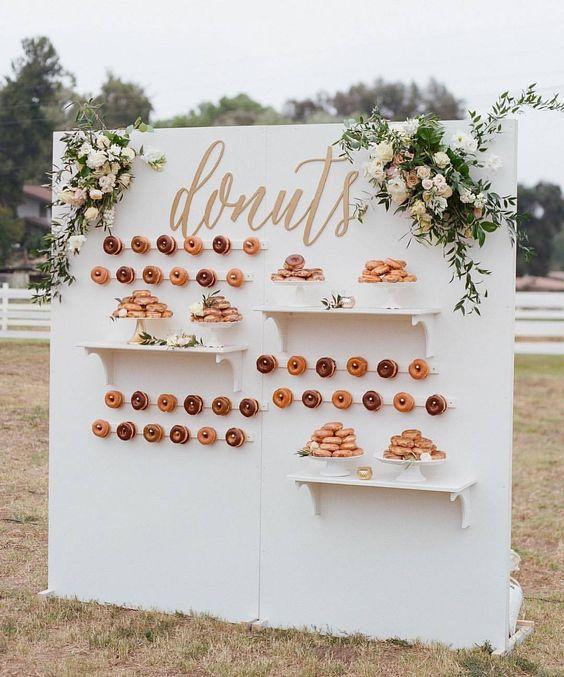 donut wall wedding
