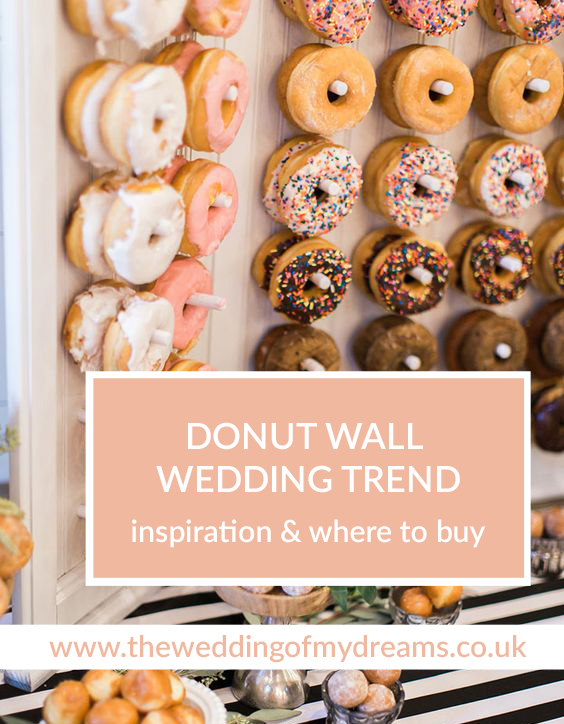donut wall wedding trend where to buy