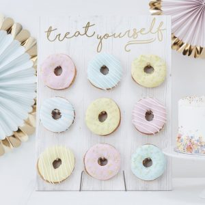 donut wall wedding table top display