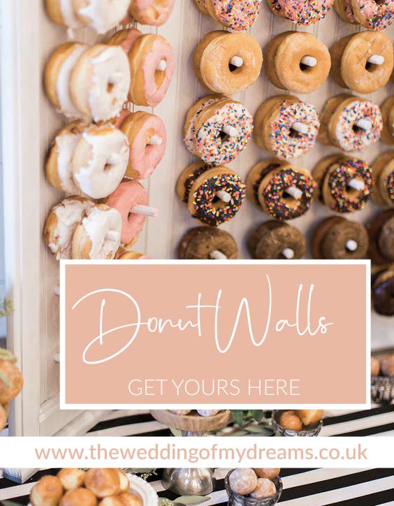Wedding donut walls frames buy online here