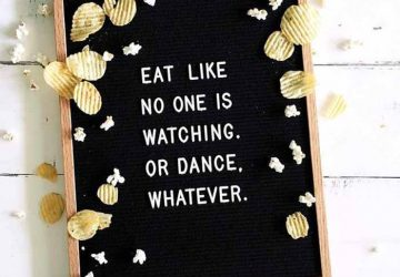 felt letter board wedding eat like no one is watching