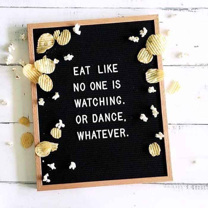 felt letter board wedding eat like no one is watching