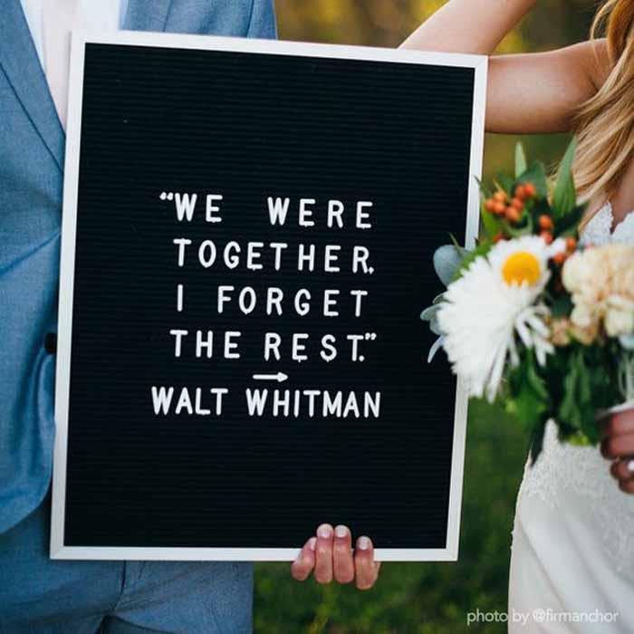 felt letter board wedding we were together i forget the rest