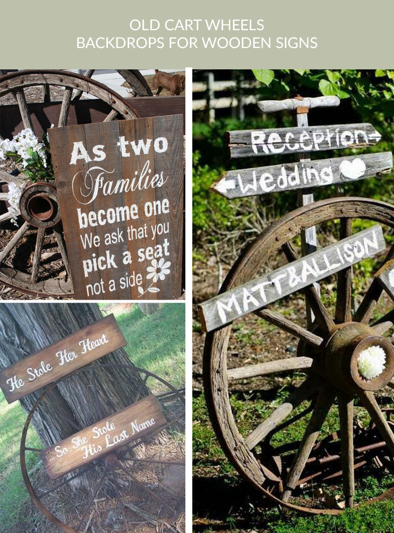 old cart wheels rustic wedding signs buy rustic cart wheels The Wedding of my Dreams