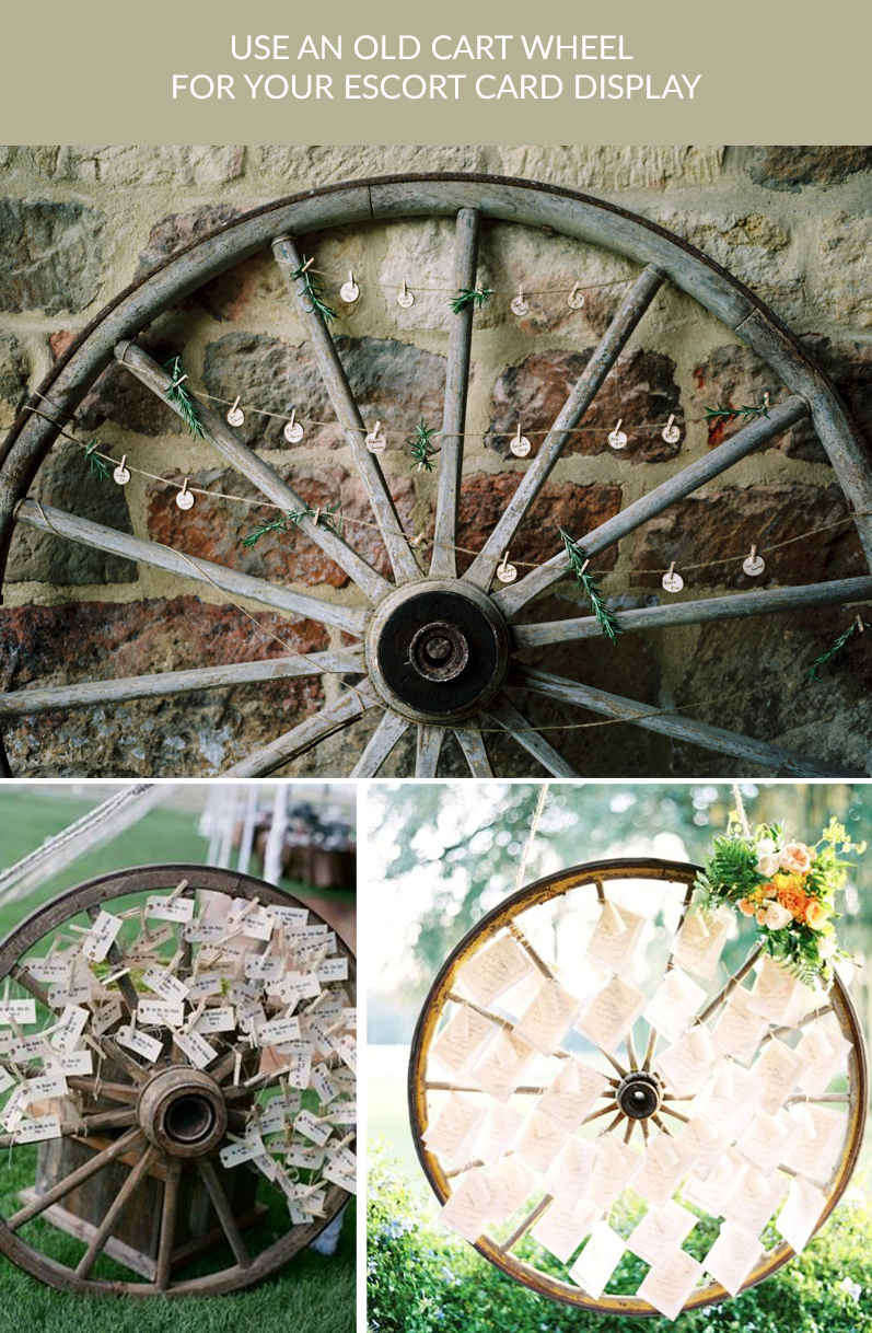 old cart wheels wedding escort card displays buy rustic cart wheels The Wedding of my Dreams