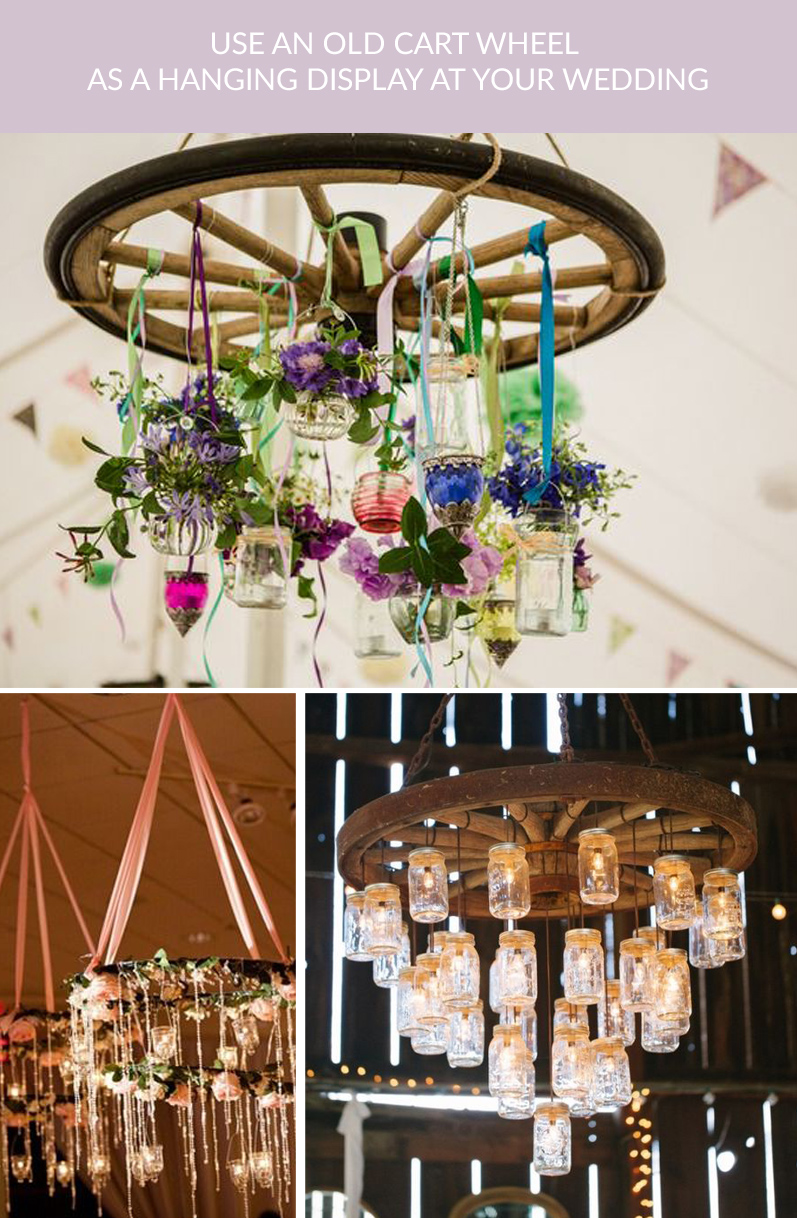old cart wheels wedding hanging displays buy rustic cart wheels The Wedding of my Dreams