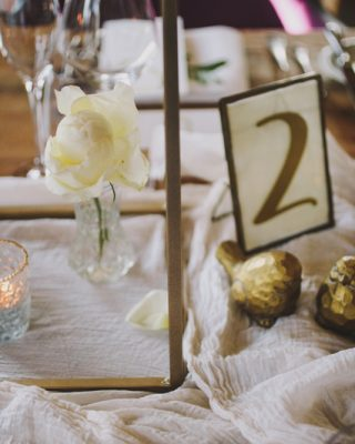 Gold Floral Stands Tall Wedding Centrepieces Extra Details Table Numbers & Vases