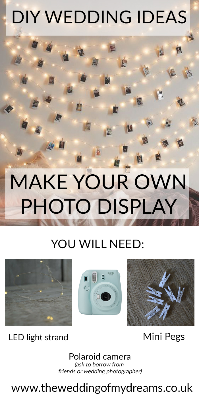Make your own photo backdrop wedding display