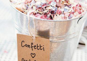 ways to present confetti at wedding ceremony
