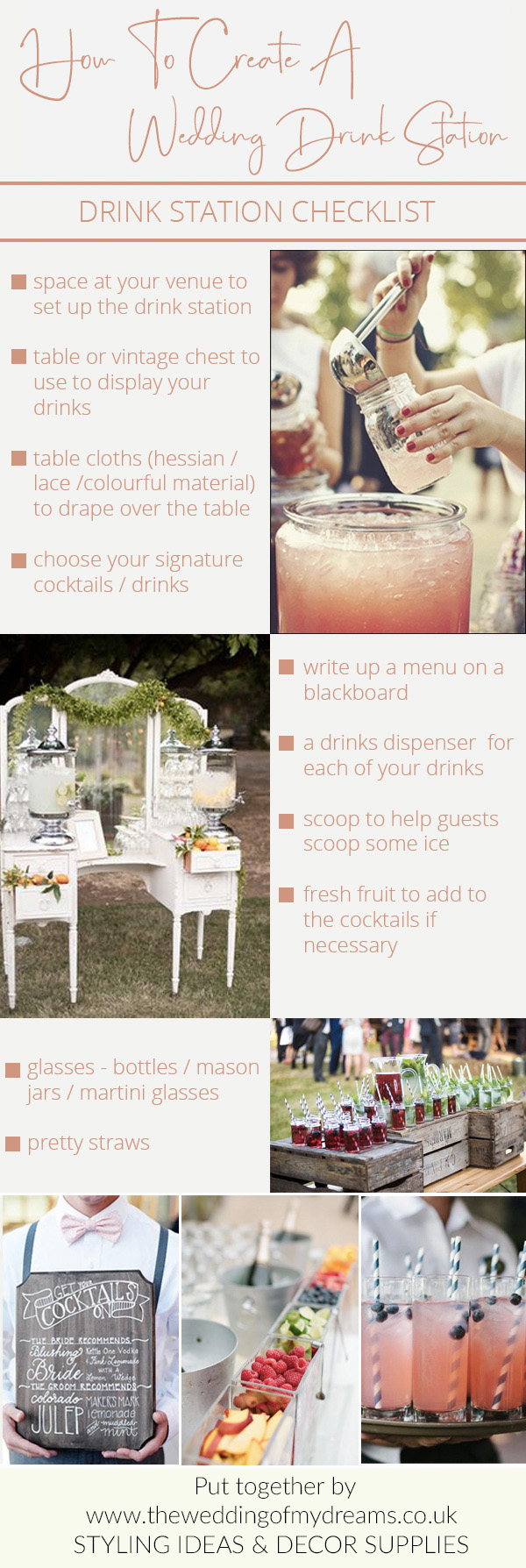 how to create a drink station checklist
