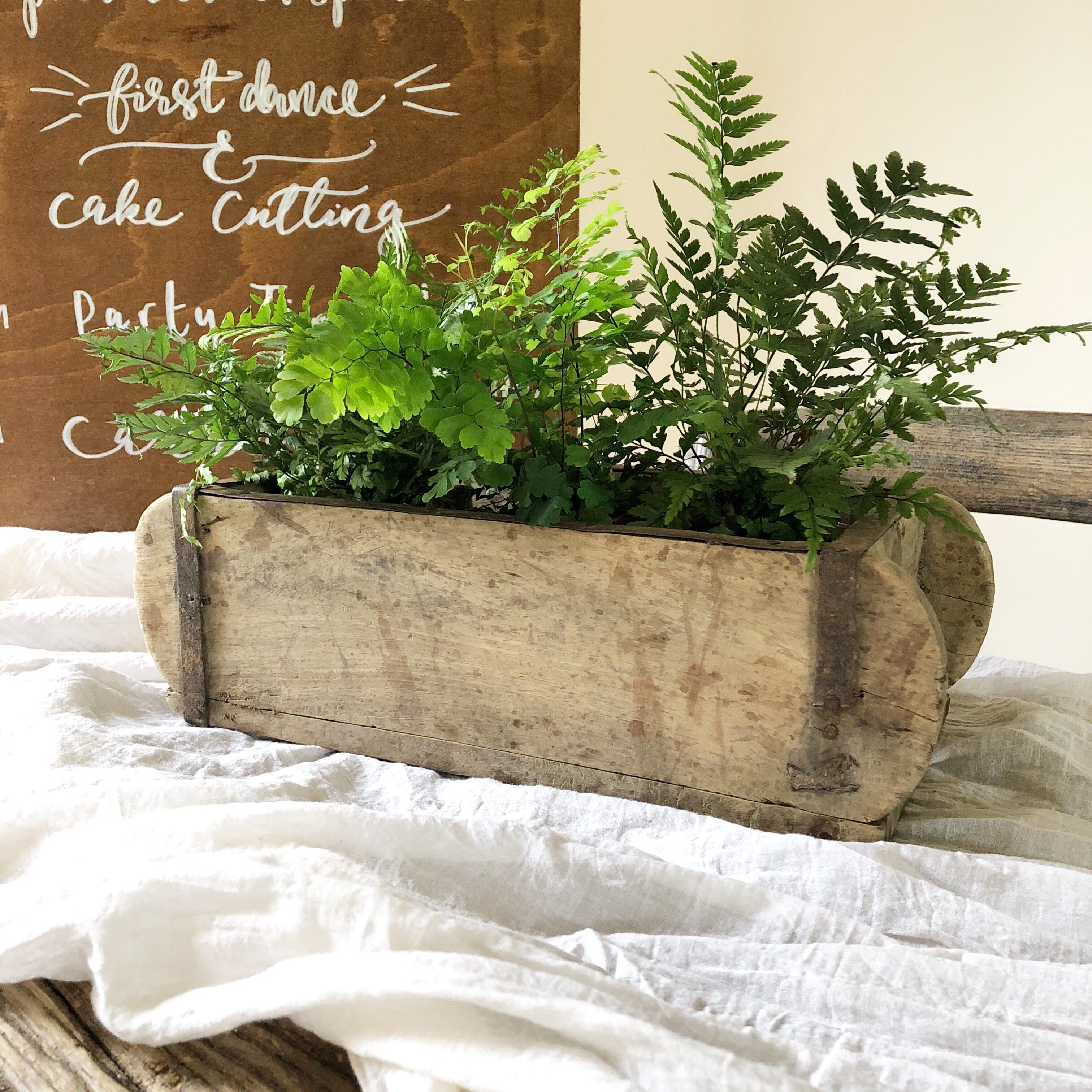 Rustic wedding centrepieces Wooden Box Brick Moulds The Wedding of my Dreams