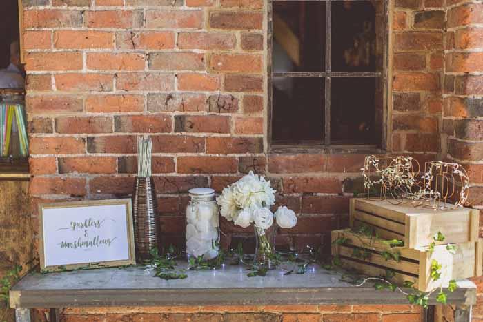 Barn wedding styling ideas - signage