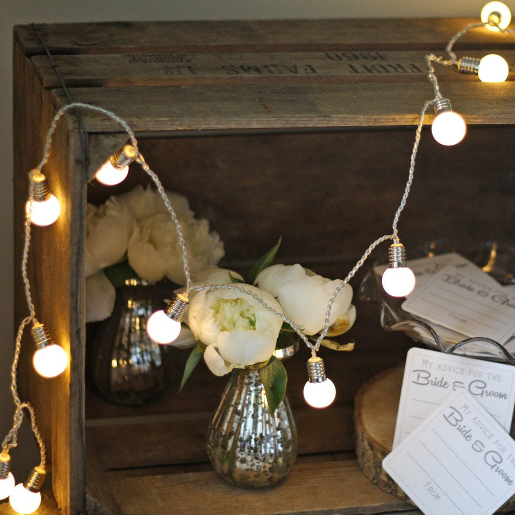 Small globe lights to decorate beans barn weddings