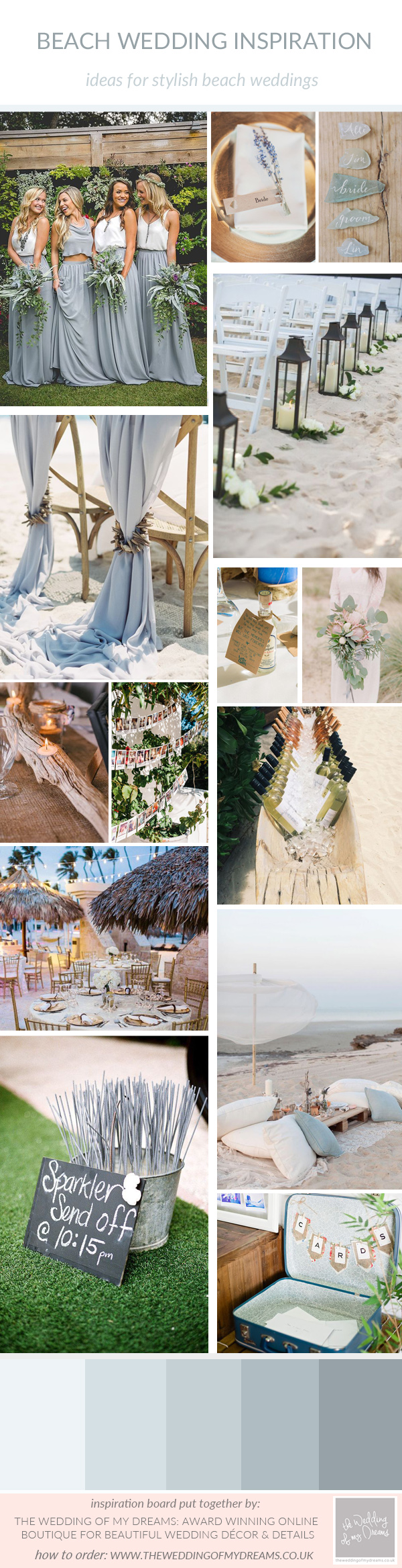Stylish Beach wedding decorations and ideas