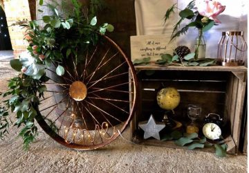 Wedding entrance display ideas rustic barn wedding styling wagon wheel cart wheels
