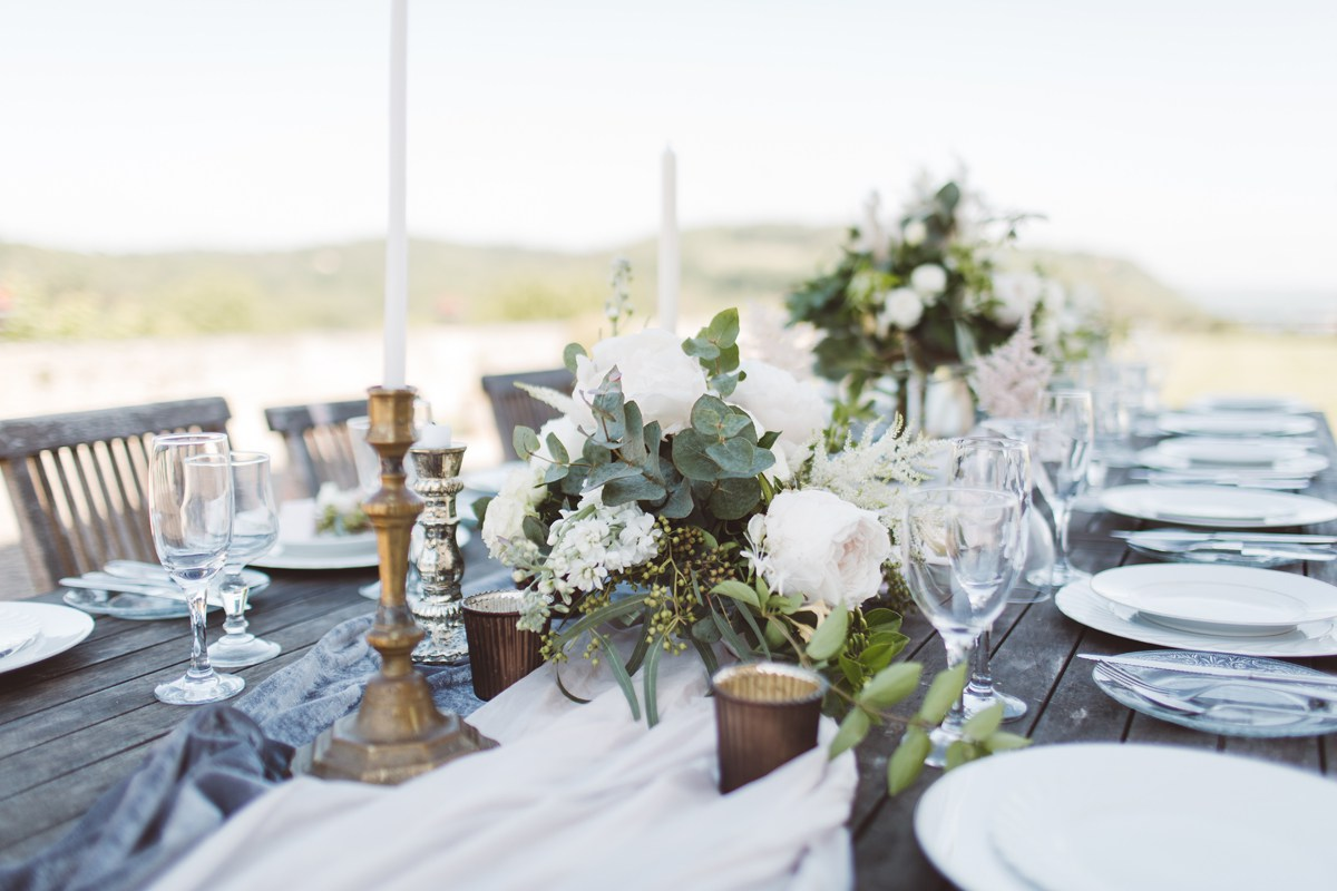 Wedding ideas destination wedding france long tables 3