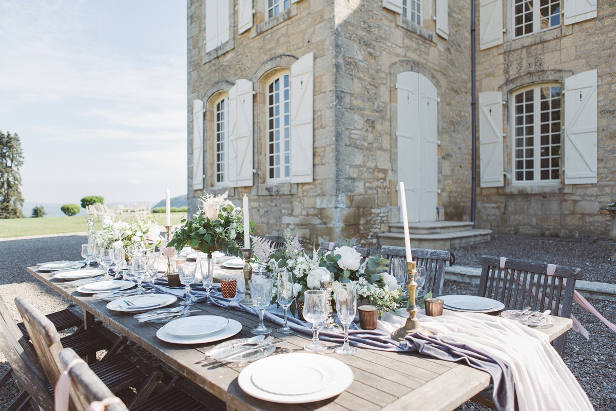 Wedding ideas destination wedding france long tables