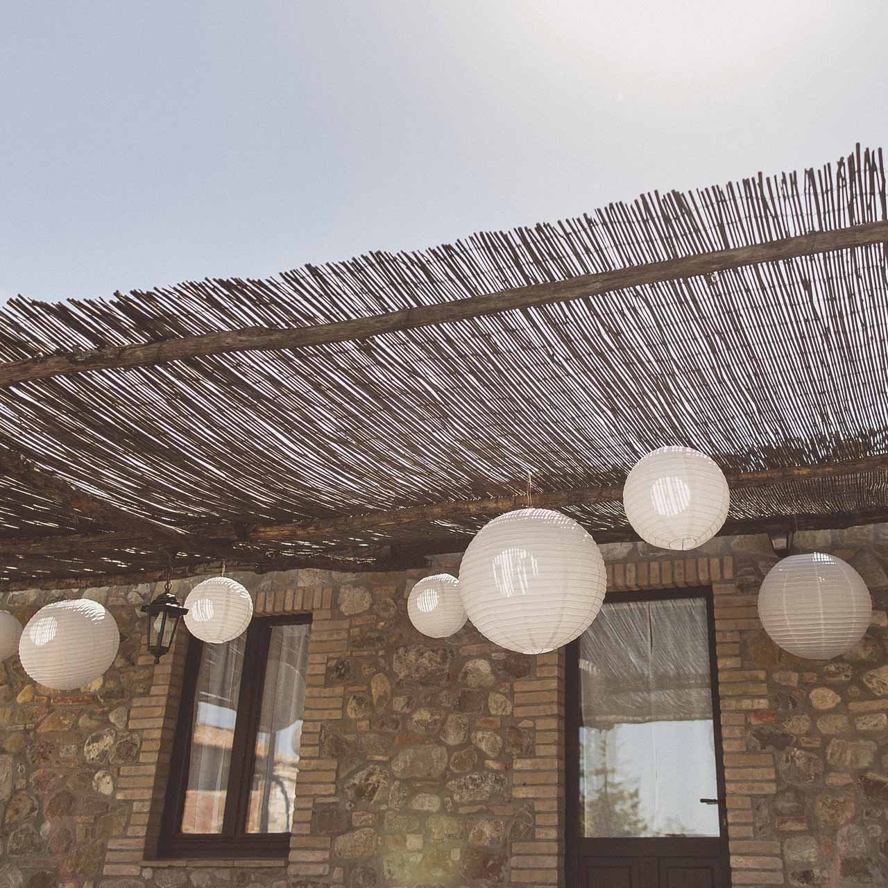 White paper lanterns rustic wedding venues barns