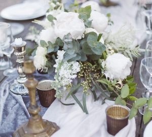 french wedding inspiration wedding tablescape bronze cream