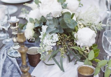 french wedding inspiration wedding tablescape bronze cream