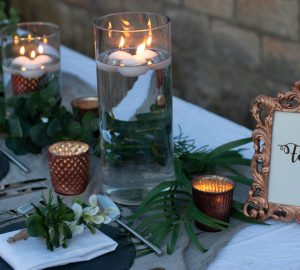 grey and copper wedding table decorations autumn wedding styling ideas
