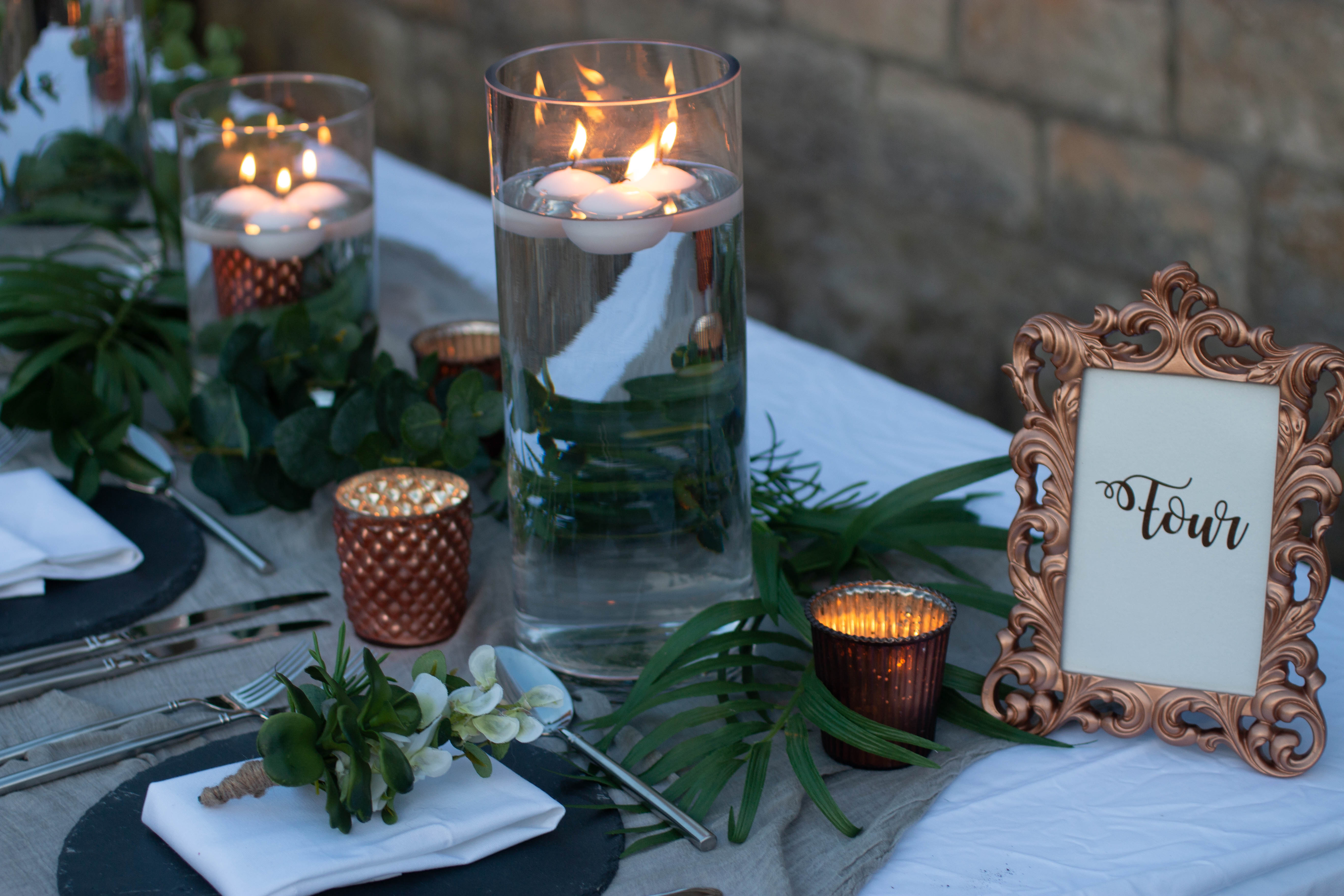 Copper And Grey Wedding Styling