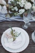 place settings flowers french wedding ideas