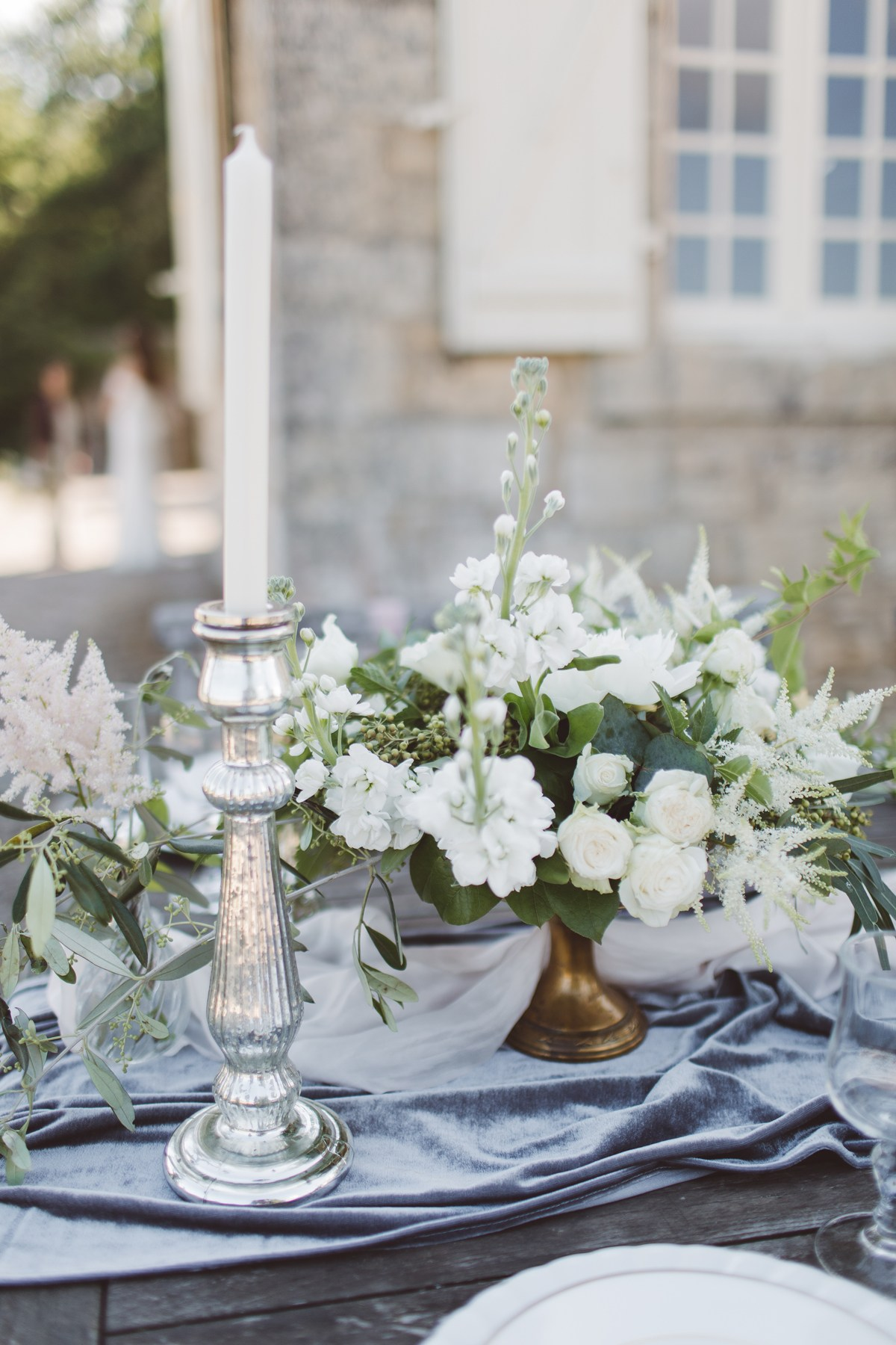 silver gold grey wedding colours destination wedding summer france