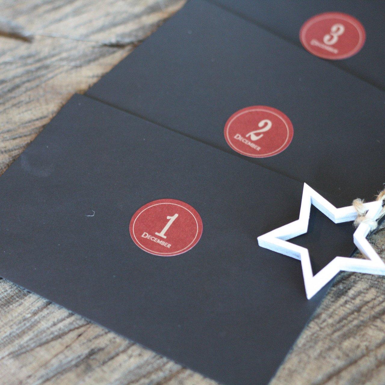 Fill your own envelopes Advent Calendar_Envelopes_Black