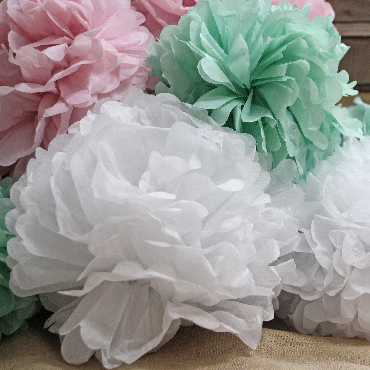 Paper pom poms cheap