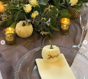 autumnal wedding centrepieces pumpkins halloween