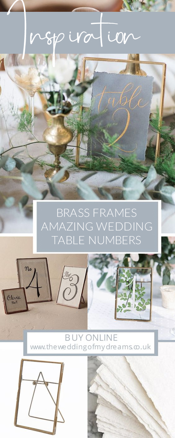 brass frames amazing wedding table numbers