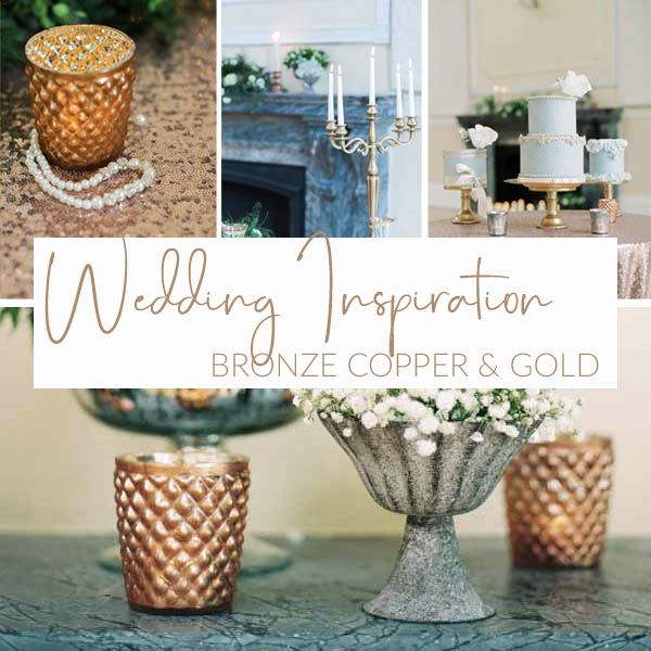 BRONZE COPPER GOLD WEDDING IDEAS