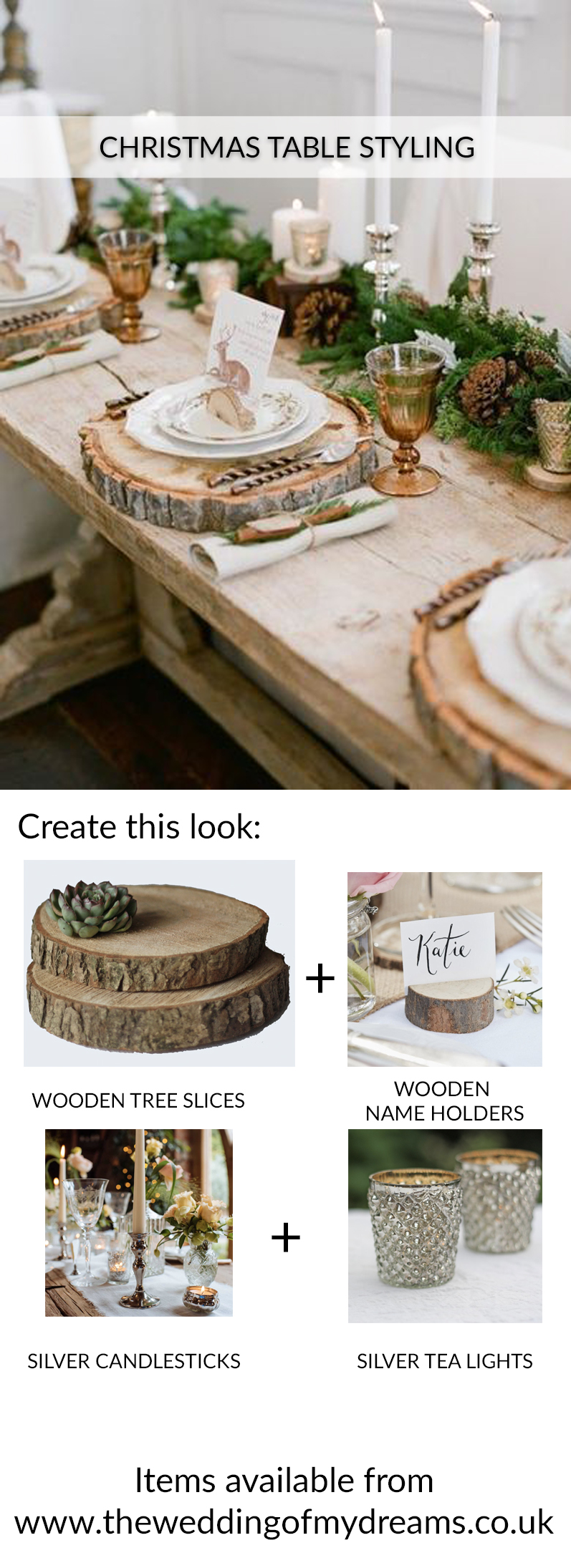 CHRISTMAS TABLE STYLING IDEAS RUSTIC WOODLAND