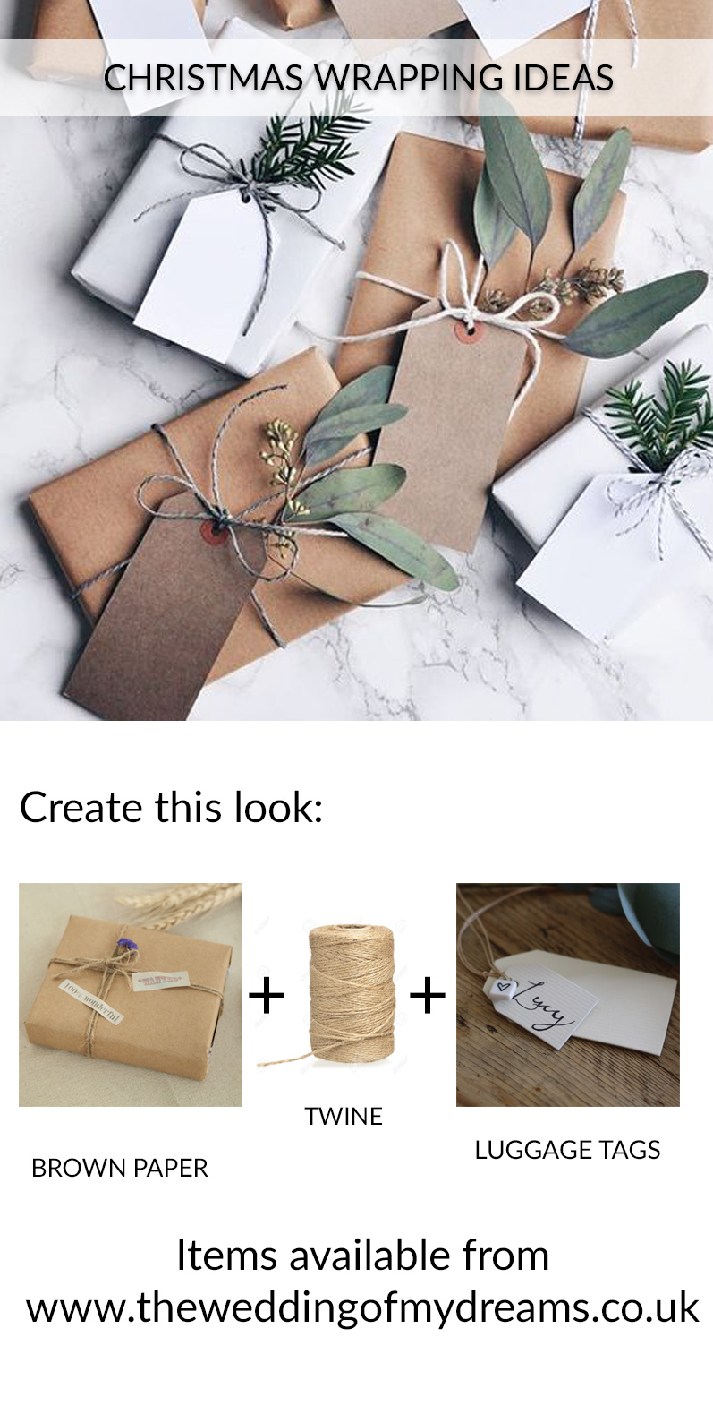 Christmas wrapping ideas shop the look